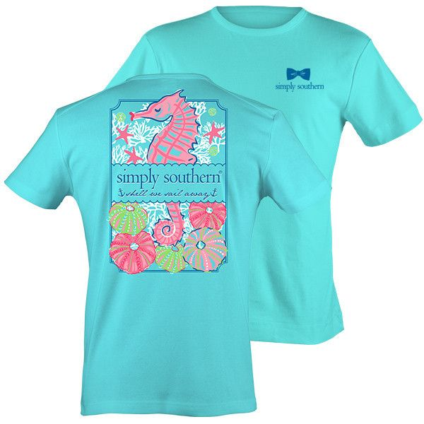 13c4d0e63e Simply Southern Preppy Scuba Seahorse T-Shirt
