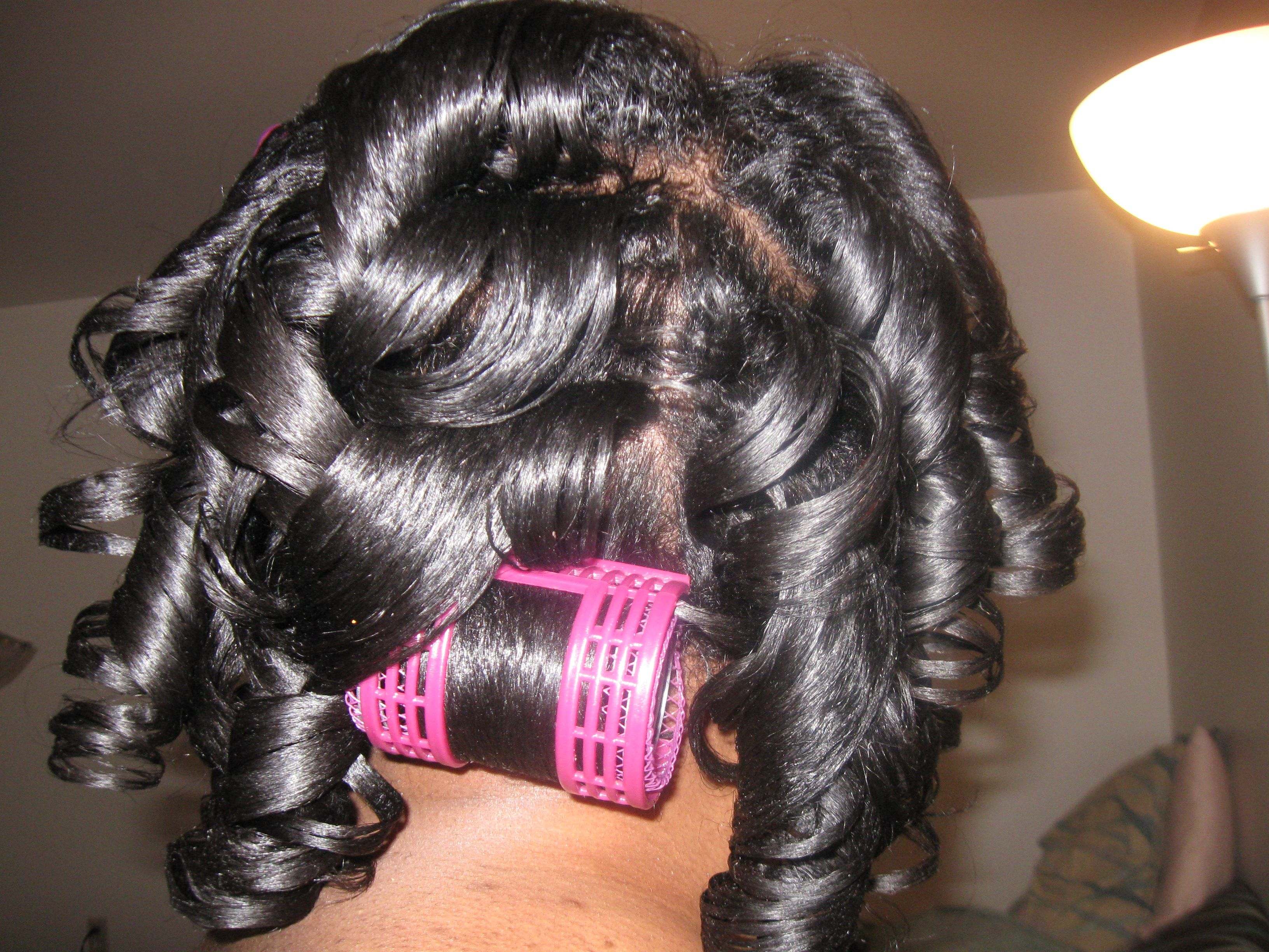 Black Hair Roller Set Styles: Natural Rollerset Using Mesh Rollers And New Lottabody