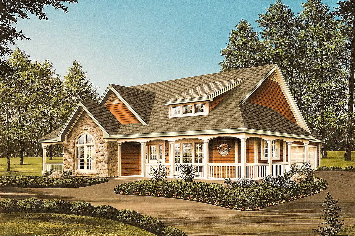 Plan 5708ha Country Home Plan With Front Orientation Porch House Plans Farmhouse Style House Plans Brick Exterior House