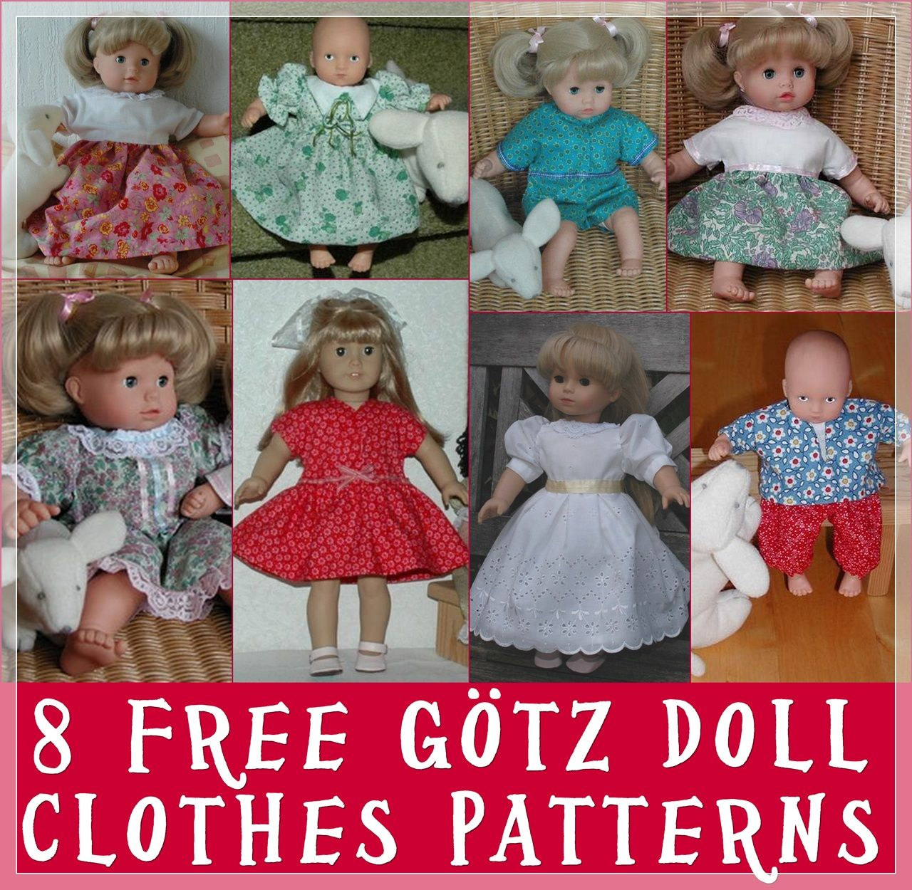 Make Your Own Gotz Dolls Clothes With These Free Easy Patterns