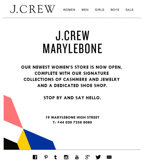 J Crew Marylebone Store Opening Women Stores Jcrew Women Store Grand Opening