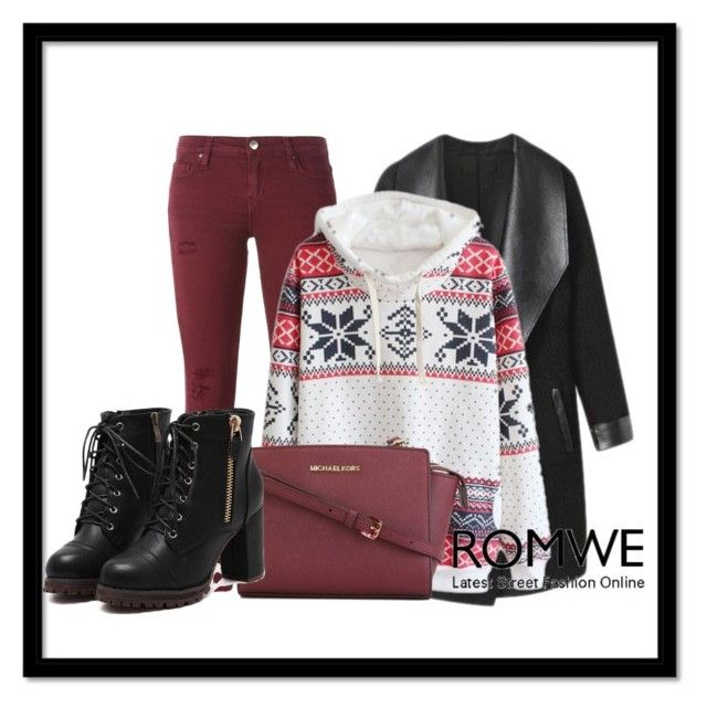 """ROMWE-Hooded Snowflake Print Sweatshirt"" by snjezanamilovanovic233 ❤ liked on Polyvore featuring IRO, Columbia and MICHAEL Michael Kors"