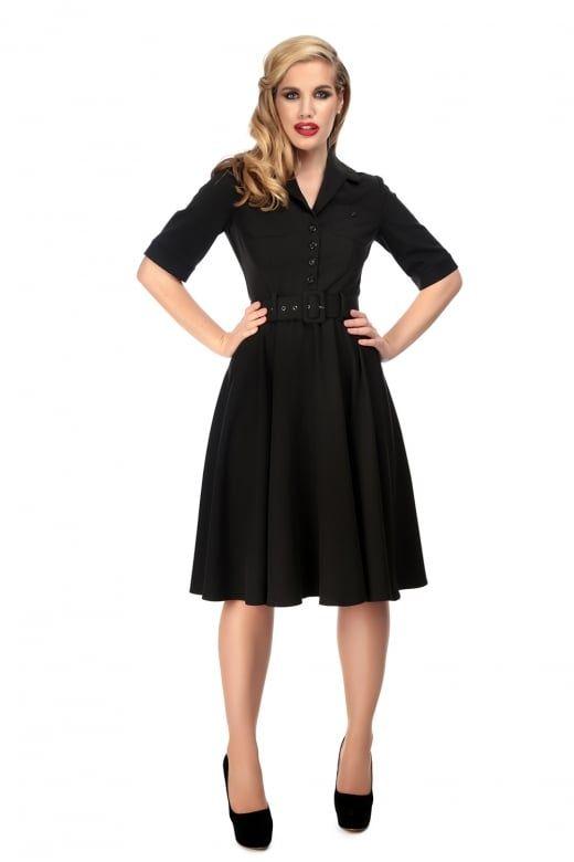 91b2fc3d6c55 Collectif Vintage Zoe Plain Swing Dress - Collectif Vintage from Collectif  UK