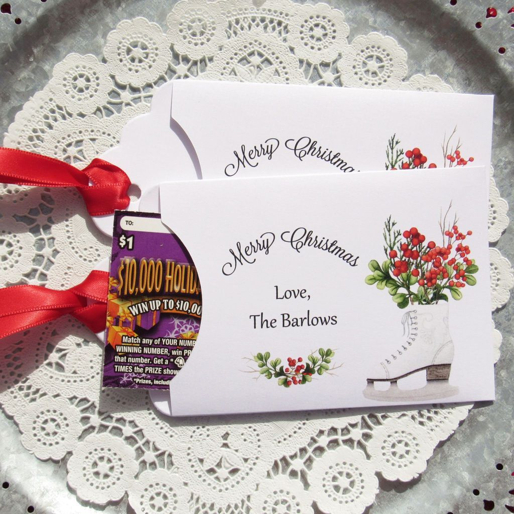 Holiday gift card envelopes christmas party favors