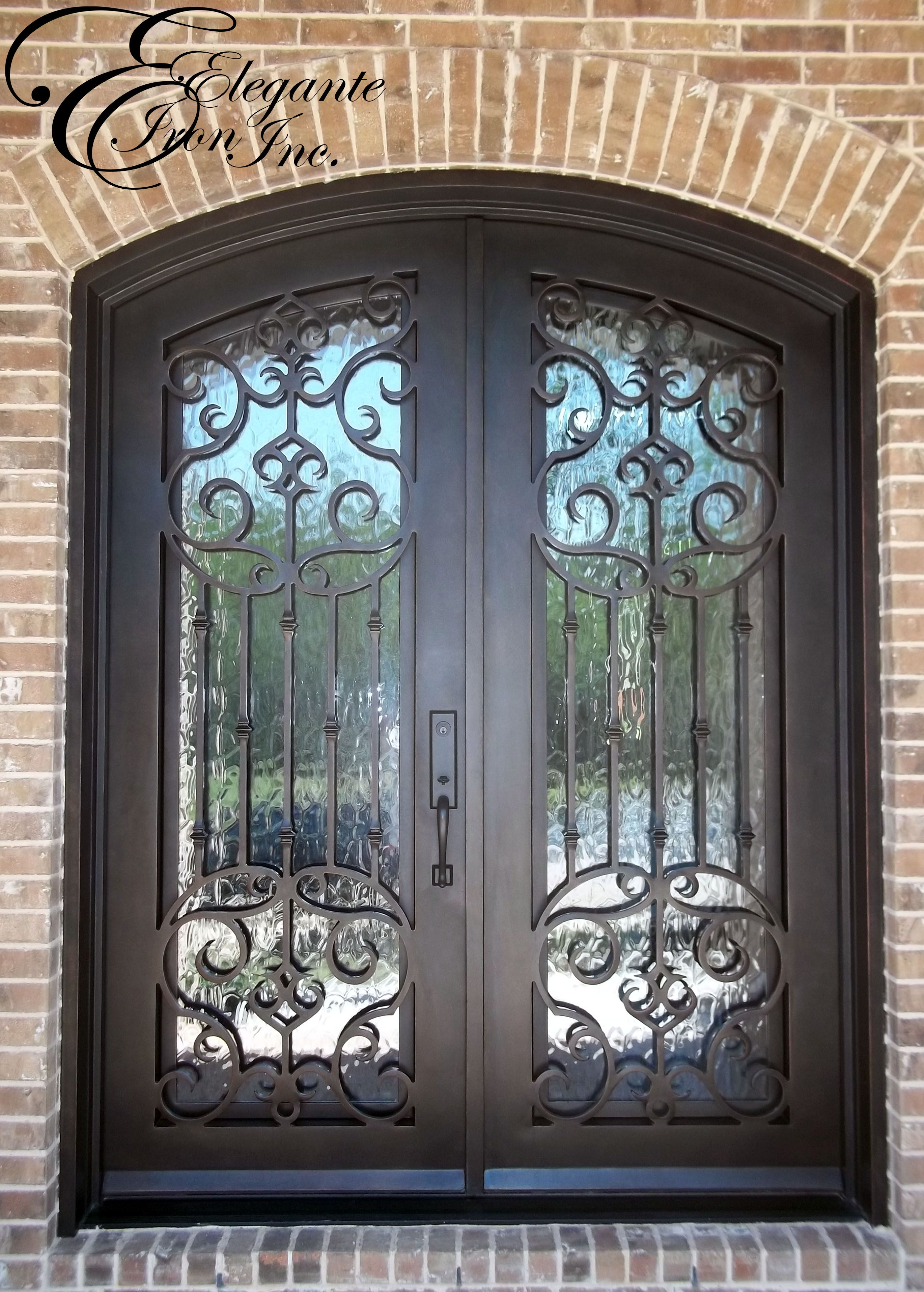 Custom Wrought Iron Door Rustic Doors Iron Doors Wrought Iron