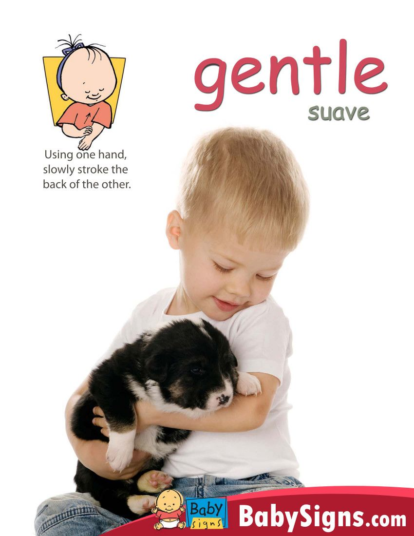 how to teach baby to be gentle