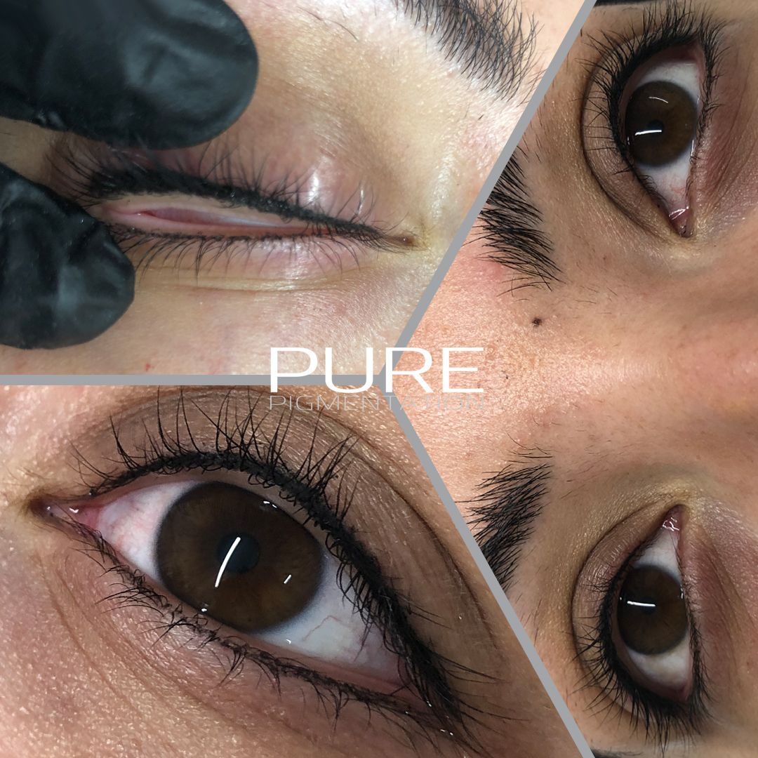 Permanent Eyeliner Lower Lash Enhancement To Give The Illusion