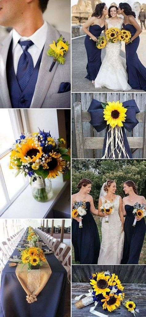 44 Sunflower Wedding Ideas You Can Make Yourself #weddingideas