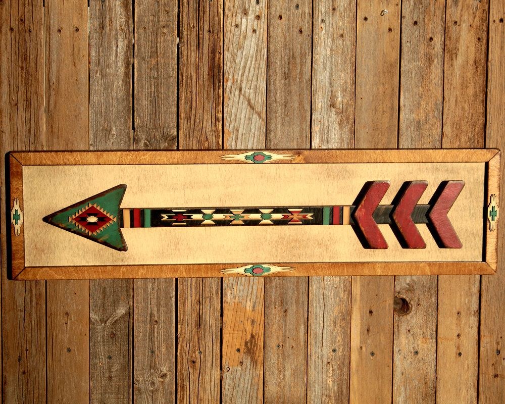 Wooden Arrows Southwestern Decor Wood Lake House Sign Rustic Arrow ...
