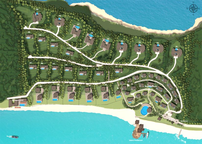 Baie De Sucre Masterplan This Luxury Resort Is Situated