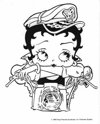 betty boop coloring pages to print google search - Betty Boop Coloring Pages Print