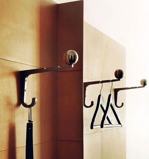 Miss Clara Hotel by Nobis in Stockholm, Brass Hooks on Wood Wall | Remodelista