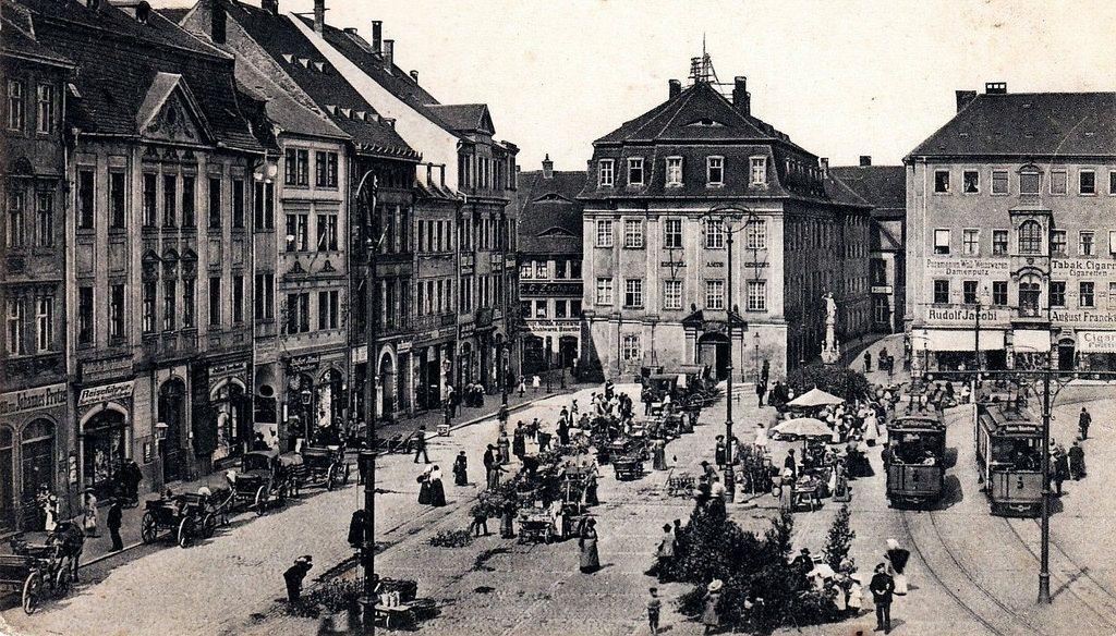 https://flic.kr/p/wWqiVM | Historische Bilder von Zittau | Marktplatz 1911