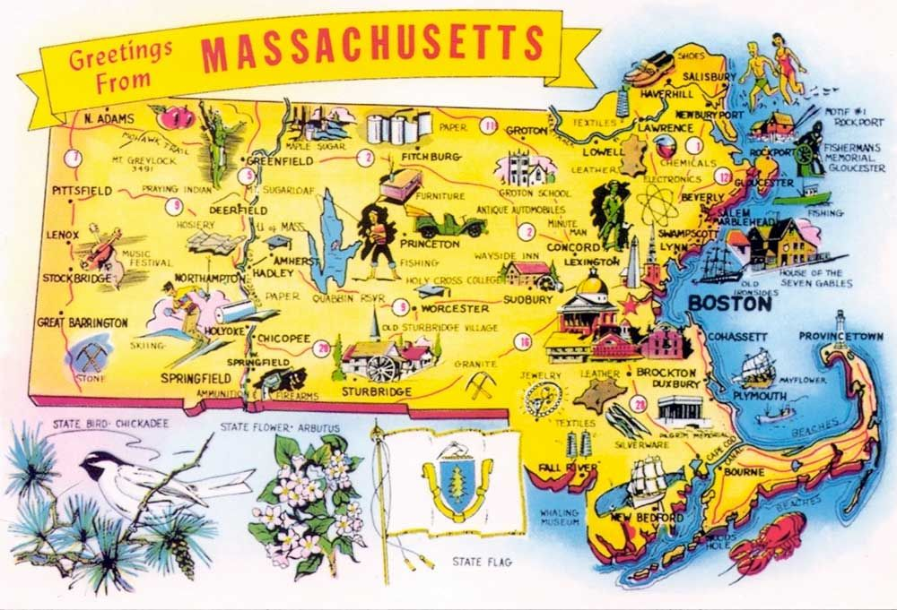 Massachusetts Photos Massachusetts Tourism Map Photo By - Massachusetts map