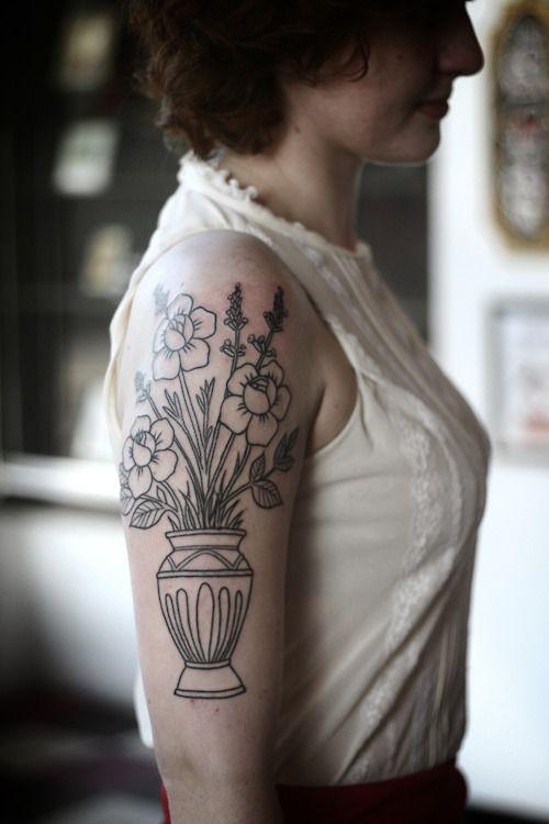 Flowers Arm Shoulder Tattoo Tatoos Pinterest Shoulder