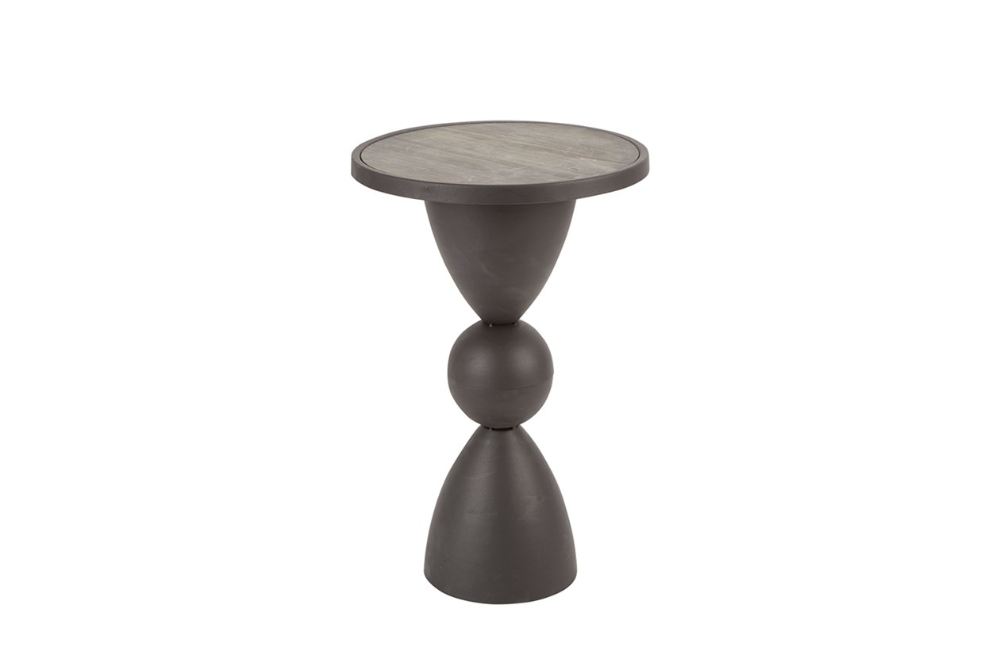 Hourglass Base Round Accent Table Round Accent Table Accent