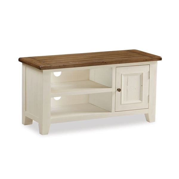 Sherwood Distressed Painted Small TV Unit up to 50""