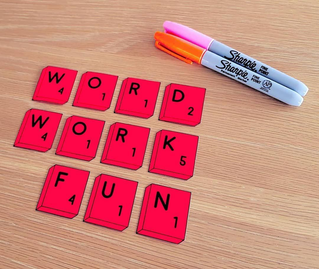 Spelling Scrabble Word Work And Scrabble Pieces Bundle