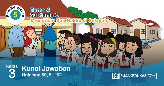 Kunci Jawaban Tema 4 Kelas 3 Halaman 80 81 82 Buku Siswa Tematik Kurikulum 2013 Revisi Kurikulum Buku Sekolah Dasar