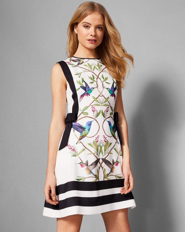 Highgrove Bow Detail Pinafore Dress White Dresses Ted Baker Dress Clothes For Women Pinafore Dress Dresses