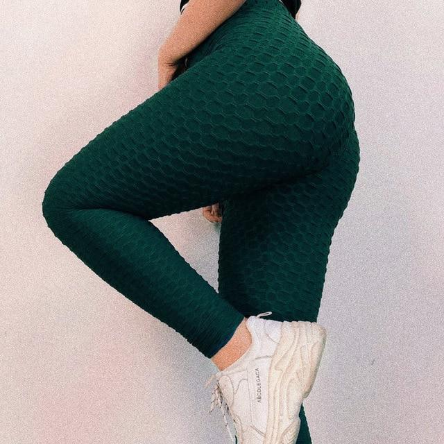 High Waist Fitness Leggings Women Workout Push Up Legging Fashion Solid Color Bodybuilding Jeggings Women Pants 2
