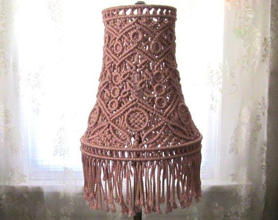 Macrame Lampshade For Tall Lamp - Antiquity - Macrame Lamp ...