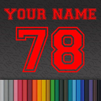 iron on plain solid sport letters numbers vinyl fabric t shirt transfer craft in crafts fabric ebay