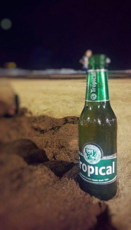 A falta de tequila... buenos son los fuegos con una cerveza. ;)