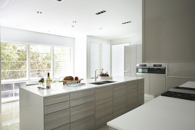 muebles de cocina color gris claro