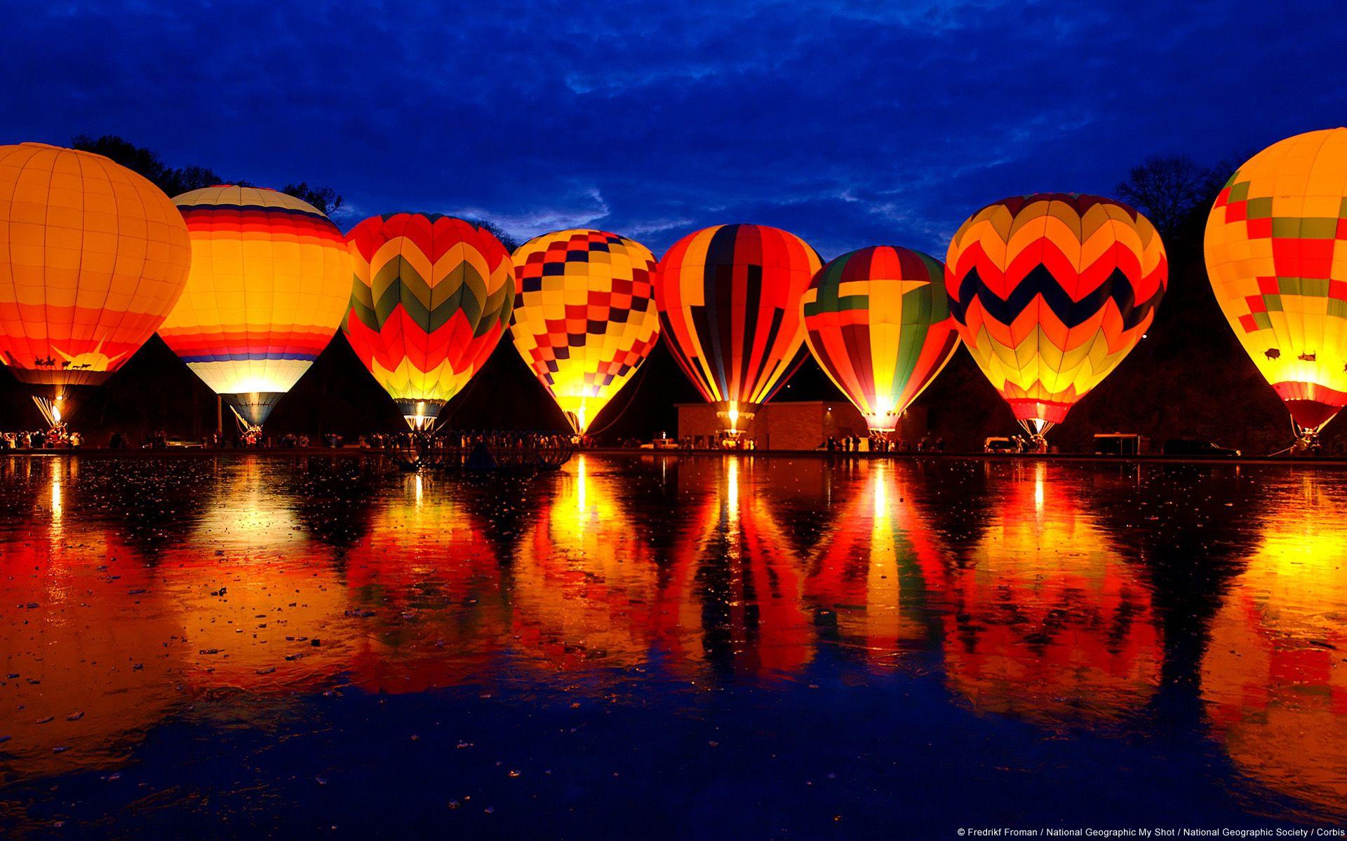 Baloes De Ar Quente Balao Brilhante Balonismo Balao De Ar Quente