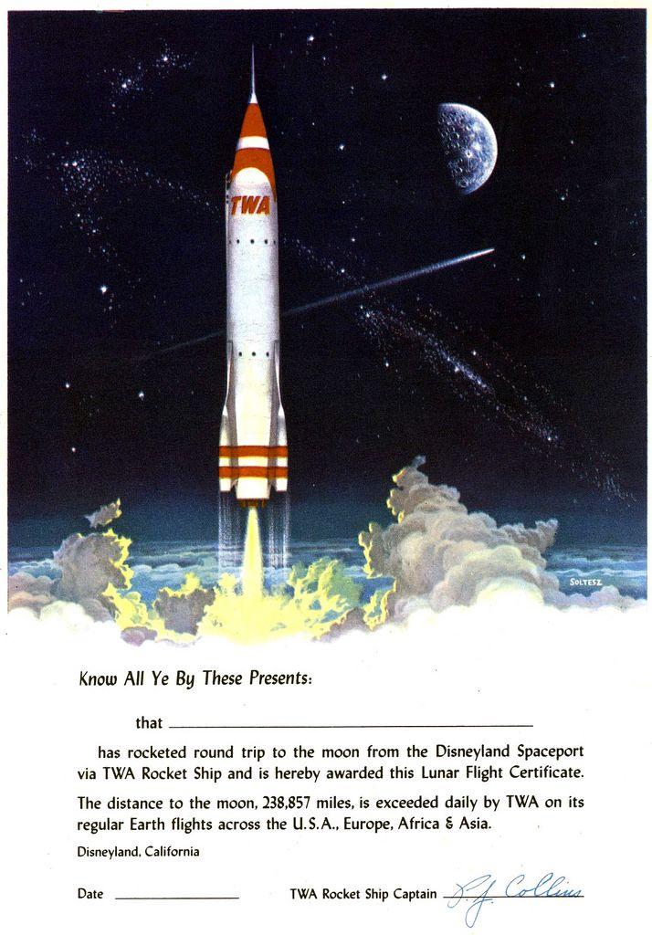 All Sizes Twa Rocket To The Moon Souvenir Flickr Photo Sharing Vintage Disneyland Disneyland Disneyland Tickets