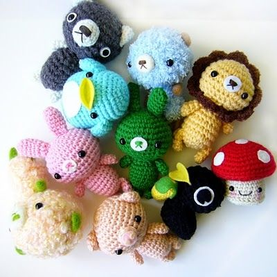 Cute crocheted animals. For more images and videos, go to - http ...