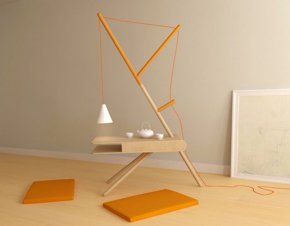 Lovely RE:LIGHT Minimalist Side Table And Lamp By Presek Design Studio