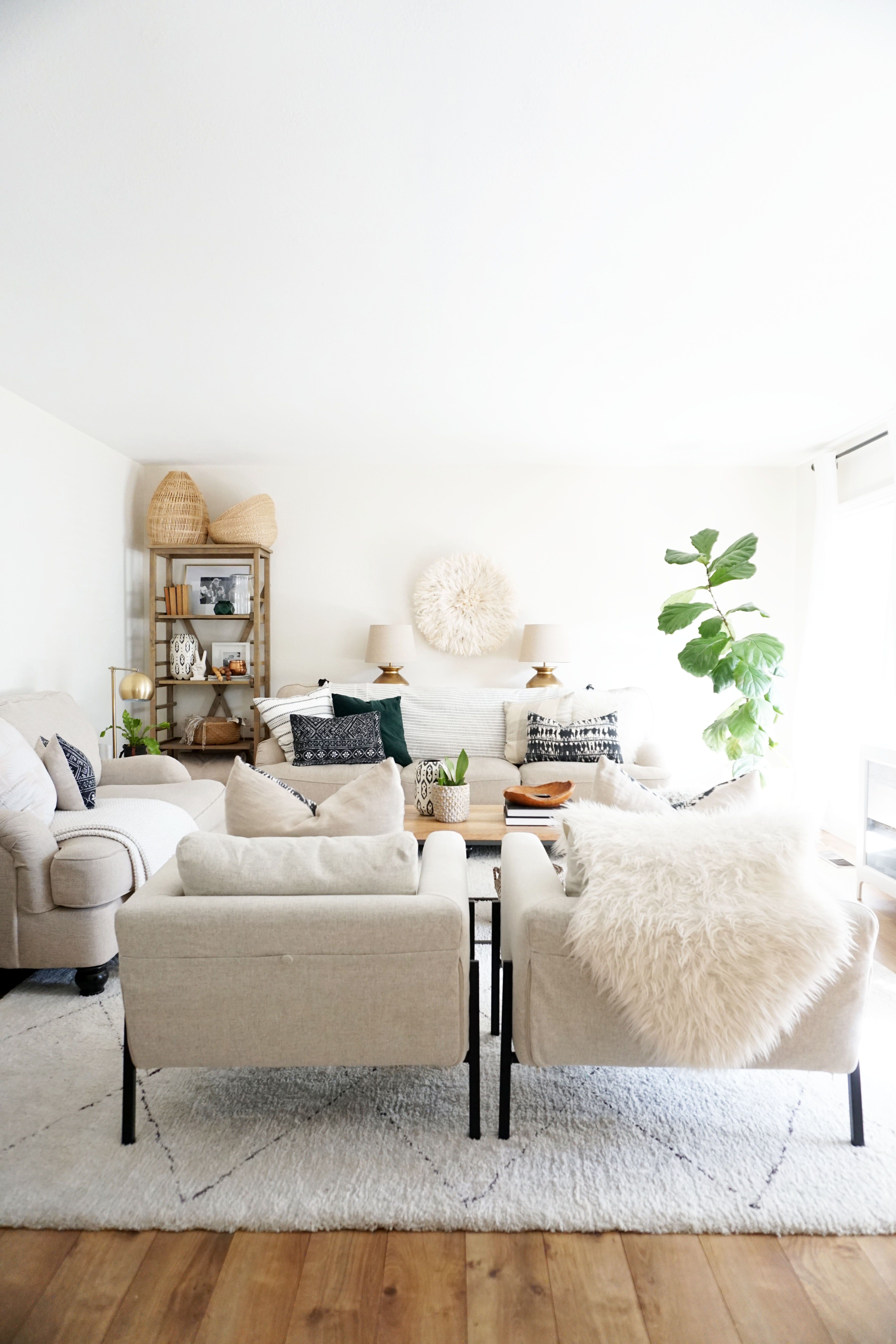 A Simple Spring Home Tour | Neutral, Living rooms and Modern