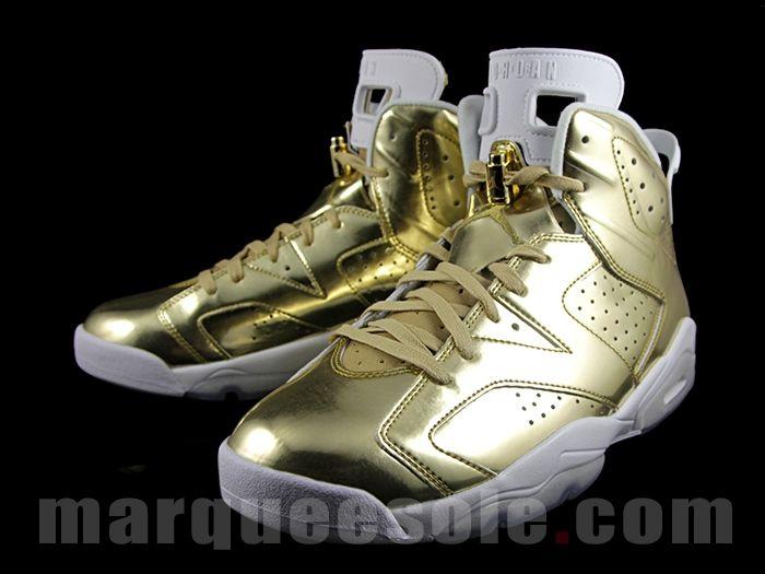 This Air Jordan 6 Pinnacle Shines In Metallic Gold