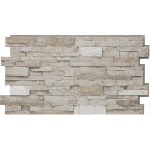 Urestone 24 In X 48 In Ledgestone Almond Taupe Stone Veneer Panel Ul2610 45 Stone Veneer Panels Stacked Stone Veneer Panels