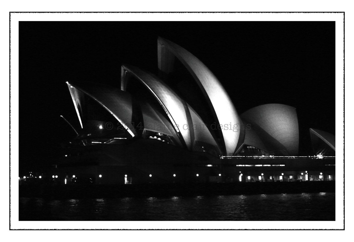 Sydney opera house black white photography wall art sydney australia