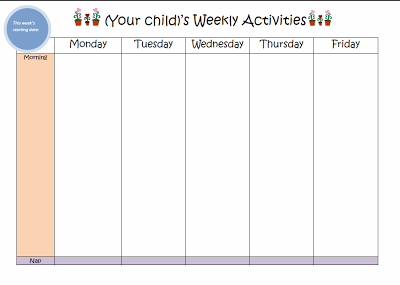 Weekly Kids Activity Planner  Play Based Learning Kid Activities