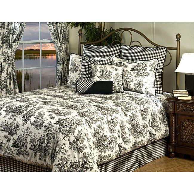 Best Plymouth Queen 9 Piece Luxury Bedding Set Black 640 x 480