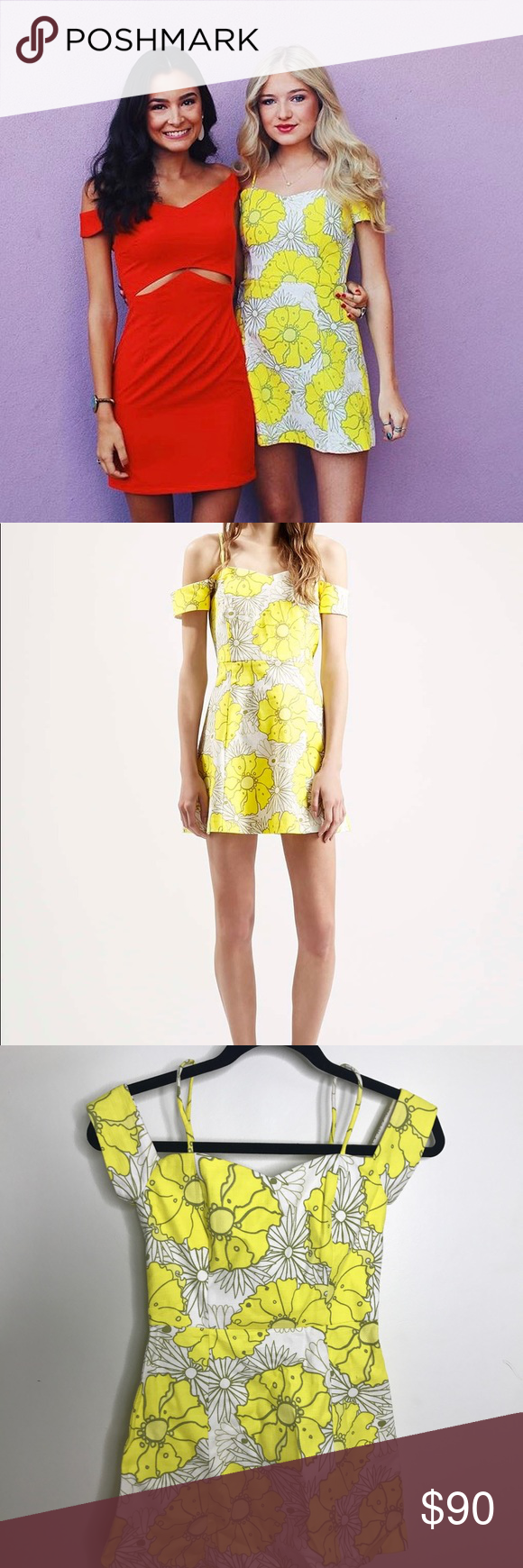 Yellow Flower Dress From Topshop Bright Yellow And White Floral
