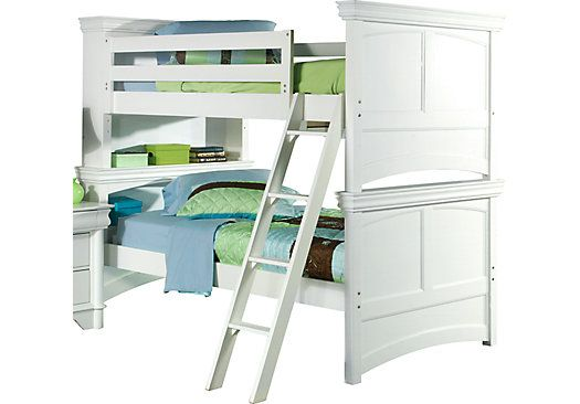 Shop For A Oberon White 7 Pc Twin Twin Bookcase Bunk Bed At Rooms