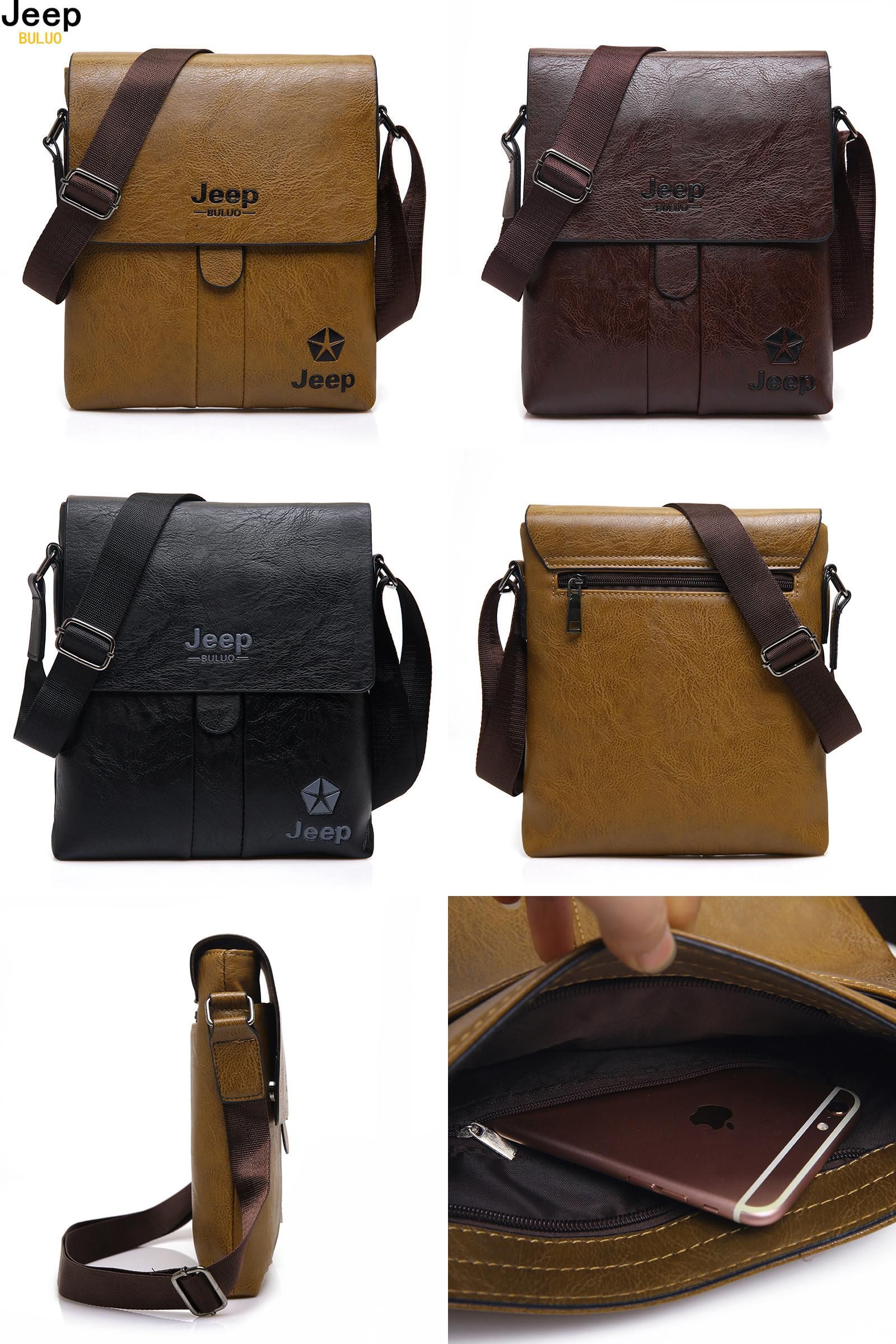5702cd6f626a  Visit to Buy  JEEP BULUO Brand Man Messenger Bag 2017 New Hot Sale High