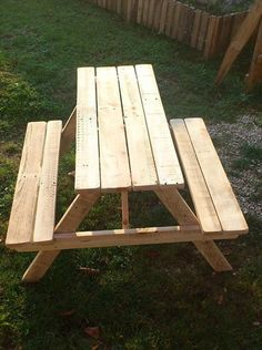 Build Pallet Picnic Table With Backrest Pinterest Pallet Picnic - Picnic table with backrest