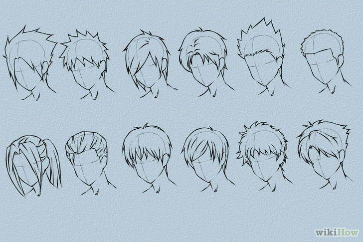 dessiner des cheveux mangas dessiner croquis et dessins