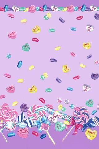 Candy Wallpaper キャンディ イラスト、可愛い壁紙、スイーツ イラスト