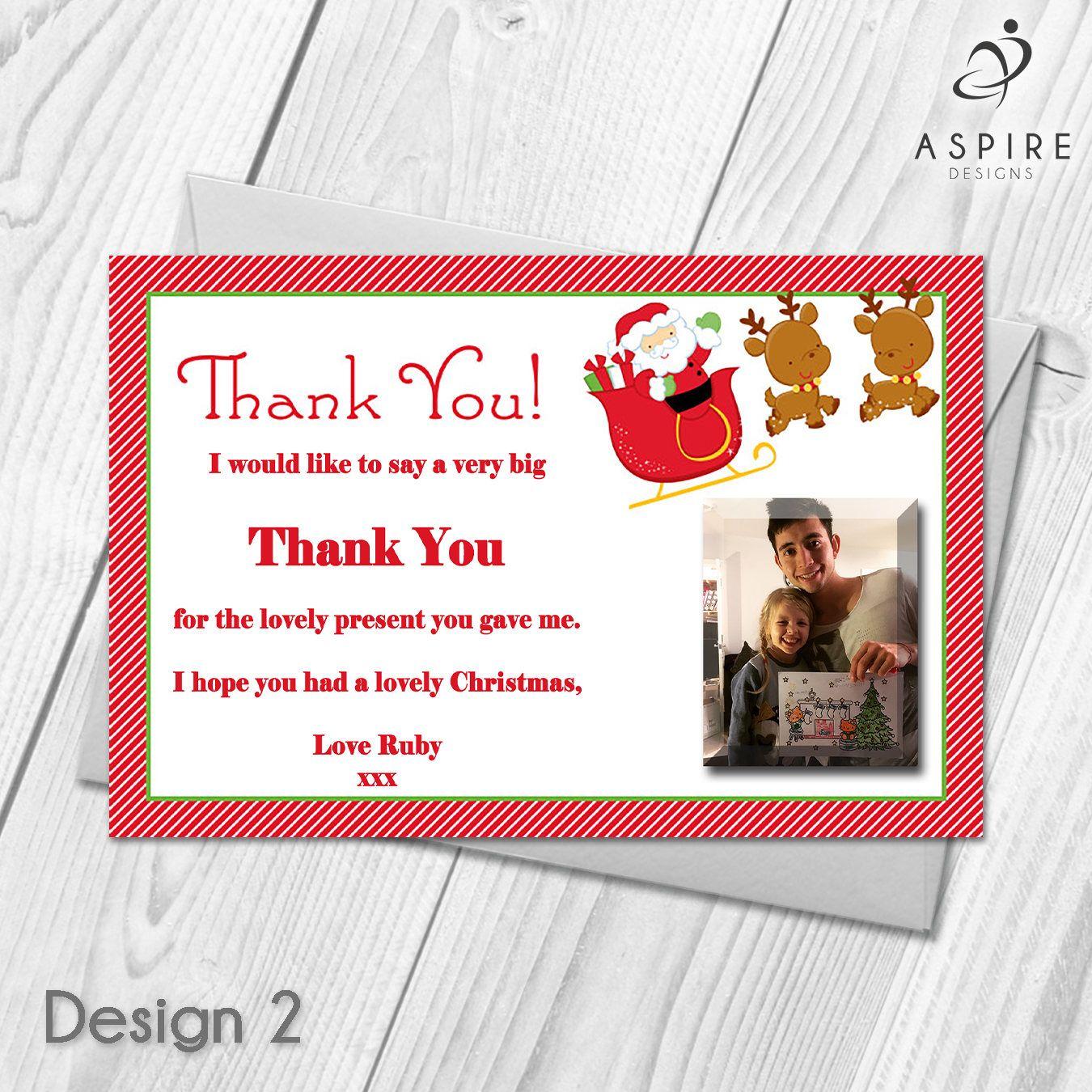 Personalised Christmas Xmas Thank You Festive Cards   Digital ...
