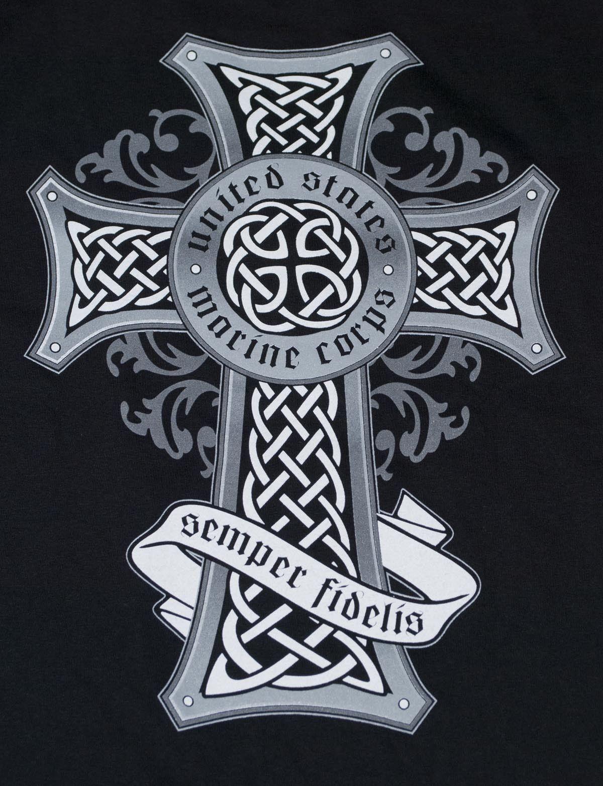 marine corps celtic cross black t shirt sgt grit marine corps store pics for wood shirts. Black Bedroom Furniture Sets. Home Design Ideas