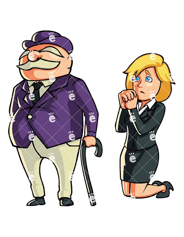 Dating a female banker clipart