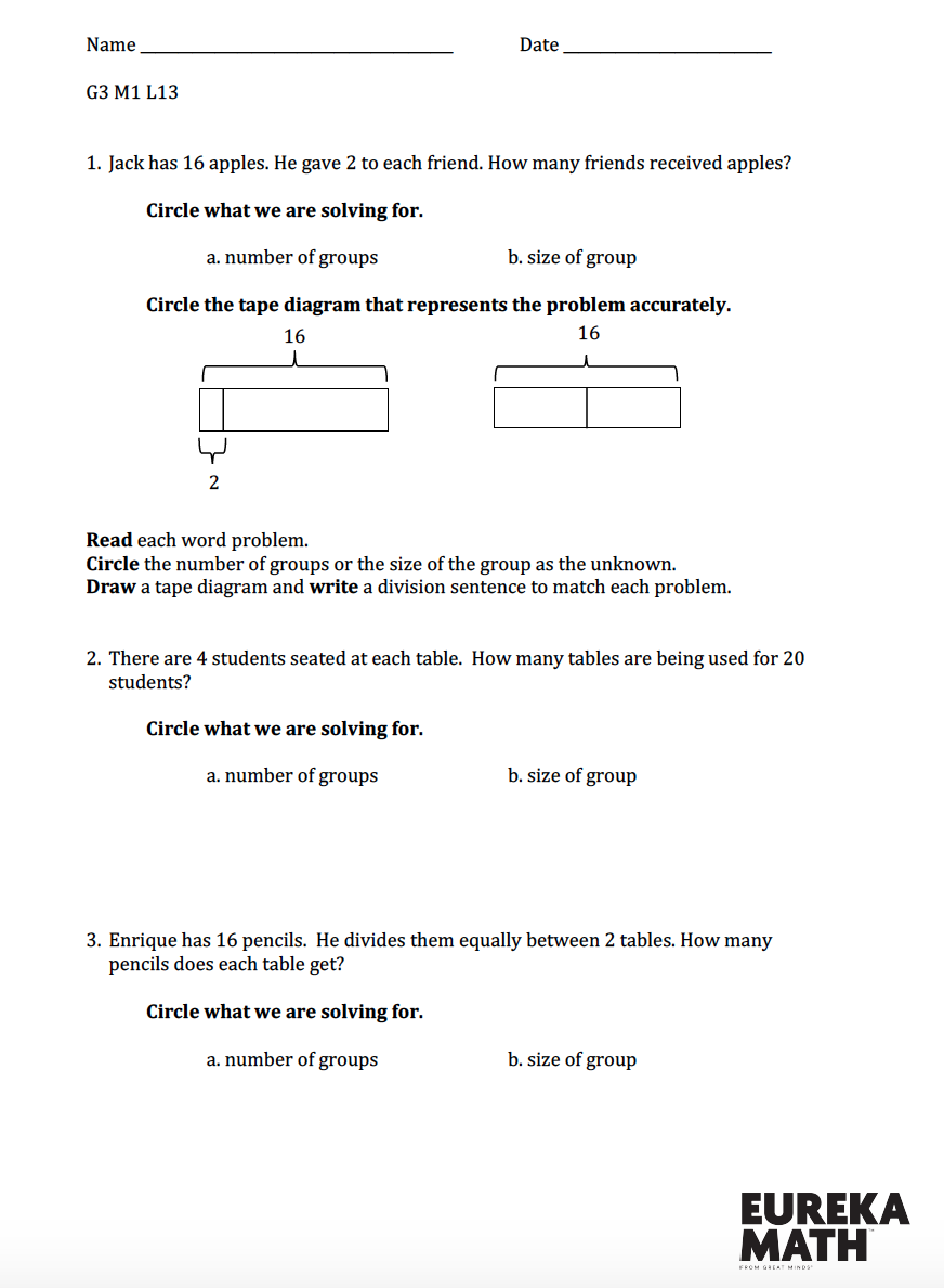 hight resolution of Grade 3/Module 1/Lesson 13 Review   Eureka math