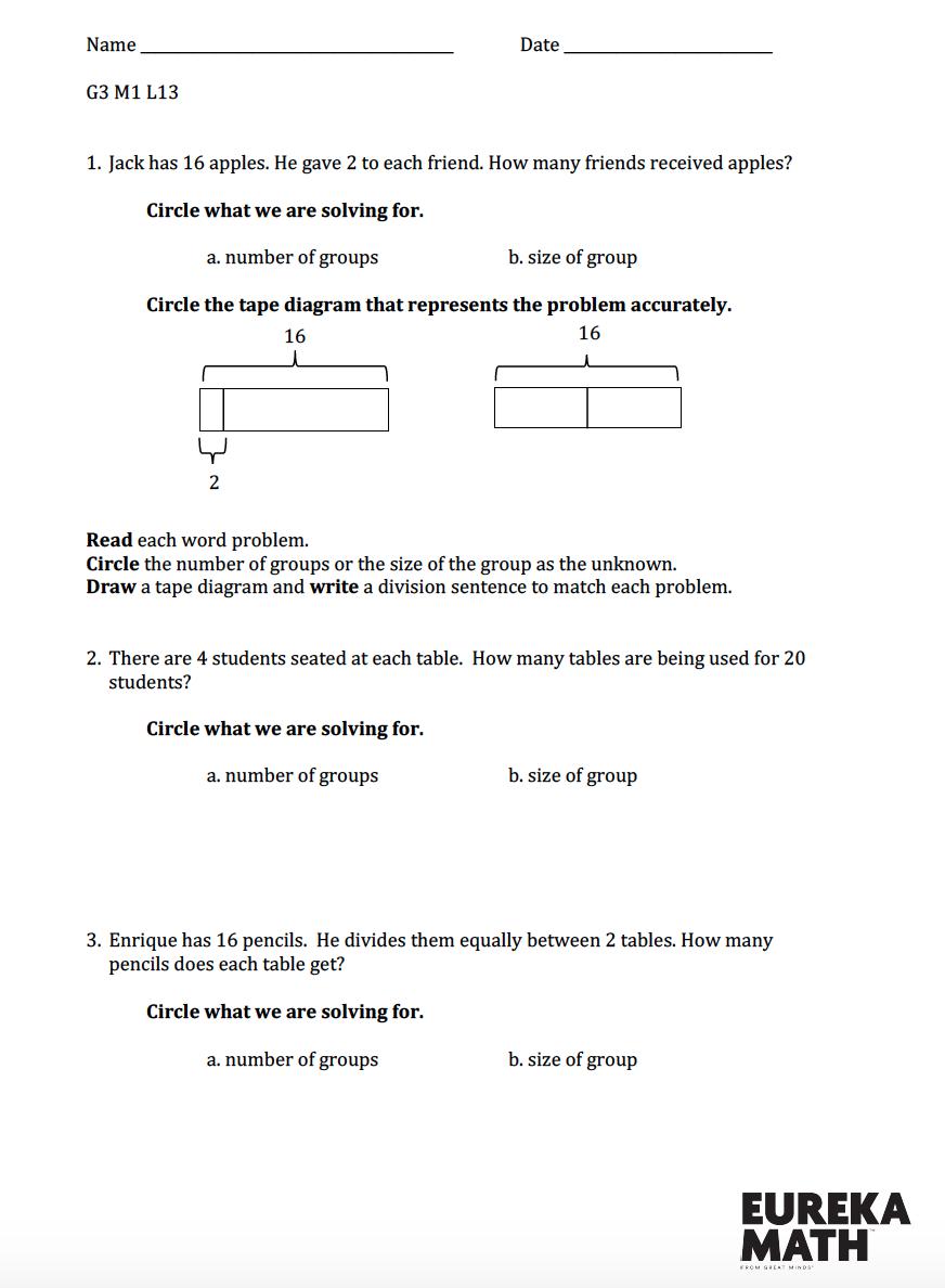 Grade 3/Module 1/Lesson 13 Review   Eureka math [ 1188 x 872 Pixel ]